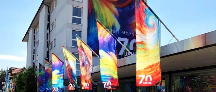 Heimgartner Fahnen AG: Votre usine de drapeaux depuis 70 ans