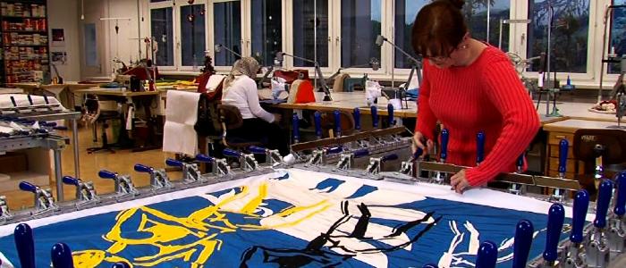 Stampa di bandiere presso la Heimgartner Fahnen AG