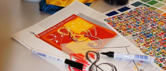 Stampare la vostra creatività fedele all'originale sulle bandiere - la specialità di Heimgartner